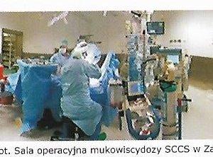 Sala operacyjna mukowiscydozy w Śląskim Centrum Chorób Serca w Zabrzu